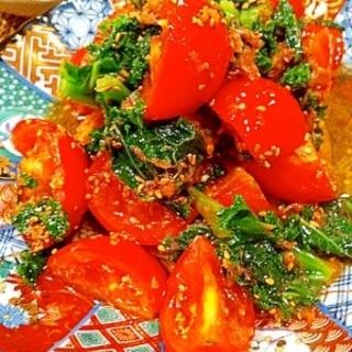 トマトとケールのポン酢和え* スチームロースター