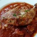 鶏骨付きもも肉のトマト煮込み