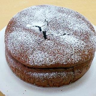 バレンタインに♪あっさりタイプのチョコケーキ