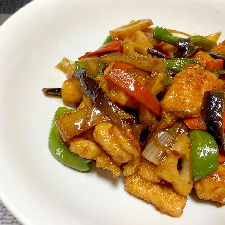 柔らか*鶏ムネ肉と野菜のピリ辛炒め