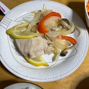 レモンとバターで★カジキマグロのホイル焼き