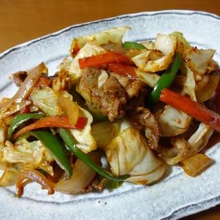 ラム肉と野菜の甜麺醤炒め