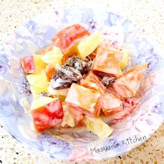 レンチンで簡単 デリ風 りんごとサツマイモのサラダ