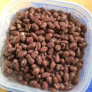 圧力鍋で作る、砂糖なし小豆