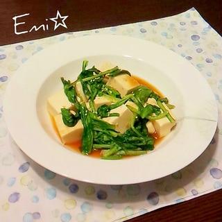超簡単☆小松菜と豆腐のピリ辛オイスターソース炒め