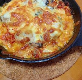 牡蛎キムチチーズ焼き