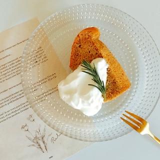 米粉でふわっしゅわ♡紅茶のシフォンケーキ