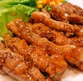 鶏もも肉のごま醤油ソテー