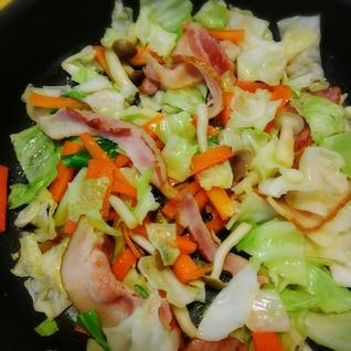 簡単!ベーコンと野菜炒め(^o^)