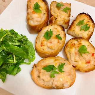 海老パン〜2★オーブントースターで♪