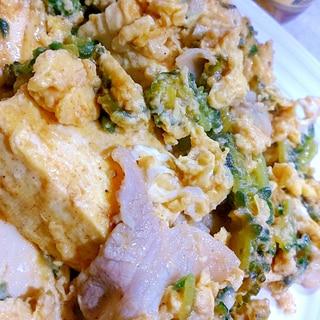 今日の晩御飯✿酢味噌炒めでゴーヤチャンプルー