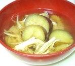 風味豊かに☆舞茸となすのお味噌汁