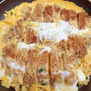 とんかつと納豆のタレで絶品ジューシーな、かつ煮