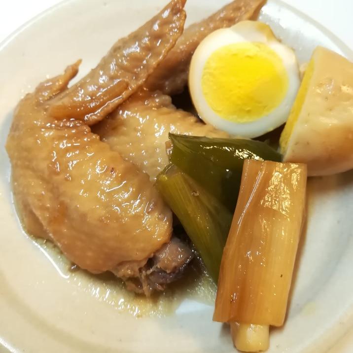 手羽先と卵の甘辛煮