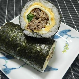 ガッツリ系太巻き!牛・焼肉巻き