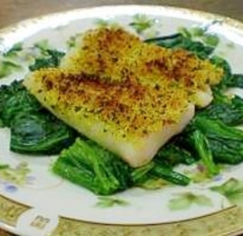 魚のカレー風味焼き