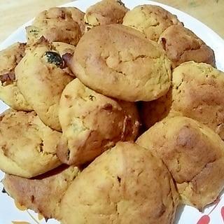 南瓜の煮物が変身☆かぼちゃと林檎のしっとりクッキー