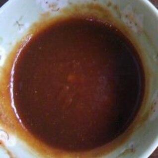 カレー味のソース