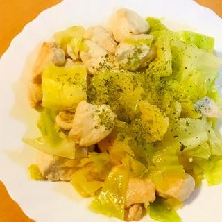 鶏肉とキャベツのあっさり&シンプル出汁炒め