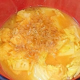 白菜と油揚げのキムチ煮
