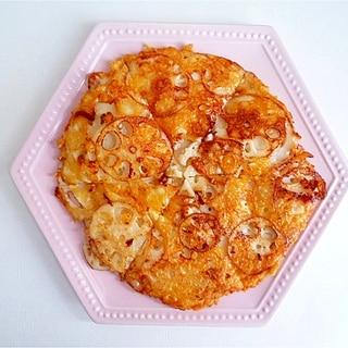 れんこんのカリカリチーズ焼き