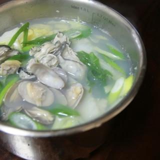 スープが美味しい♪貝鍋