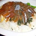 サヨリの漬け丼(酢飯から)