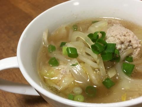 豆腐入り肉団子スープ