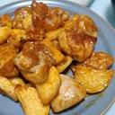 鶏と長芋の甘辛焼き