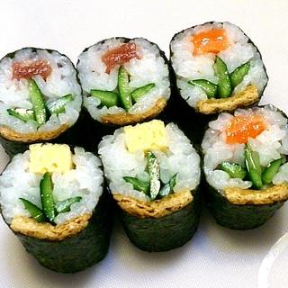 寿司型・模様巻き(飾り巻き寿司の醍醐味を簡単に)
