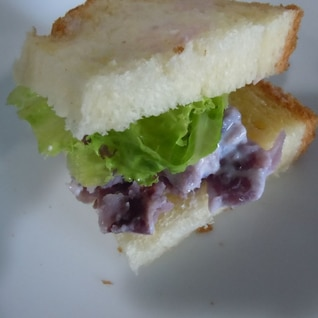 紫芋のリンゴマヨサンド