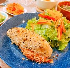 鮭とポテトのハーブパン粉焼き