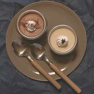 濃厚チョコプリン.ほうじ茶プリン