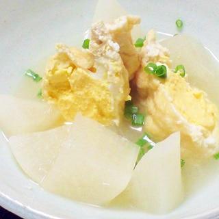 白だしで簡単おでん★大根と卵入り巾着のあっさり煮
