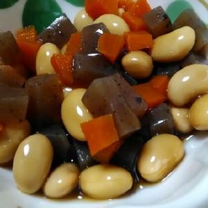 常備菜★大豆とこんにゃくの甘辛煮