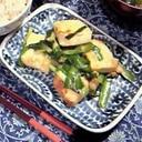 ニラと豆腐の炒め物