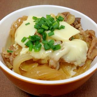 チーズがとろり☆チーズ豚丼