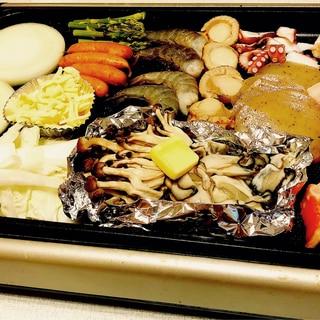 [簡単美味しい]海鮮焼きホットプレート!