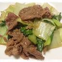 コストコのプルコギとチンゲン菜の炒め物
