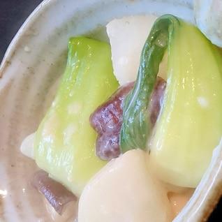 大根とチンゲン菜の和風ミルク煮