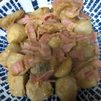 里芋はレンジで温めてから剥きました! 子どもが喜んで食べてくれました!ありがとうございます♪