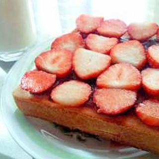 【おやつトースト】小倉いちごトースト
