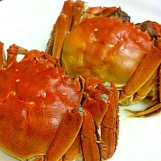上海蟹の茹で方