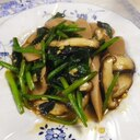 魚肉ソーセージ椎茸ほうれん草炒め