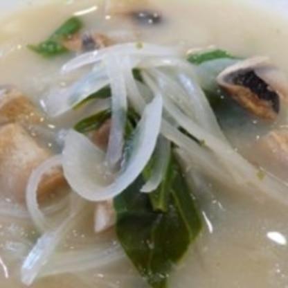 マッシュルームのジンジャーココナッツスープ