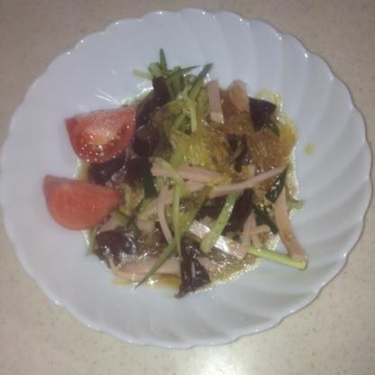 お店の春雨サラダの味でした。旦那さんが大絶賛でとても美味しかったです(*^^*)