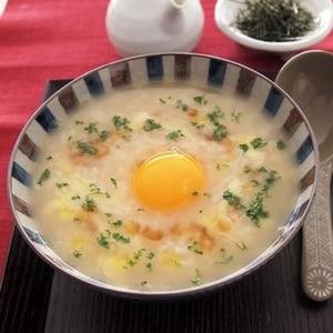 にんにく卵雑炊(スタミナリゾット)