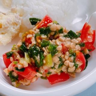 【離乳食】トマ納豆