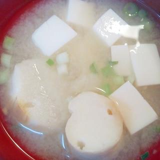 豆腐と麩の味噌汁☆