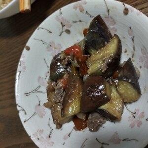 油なし★茄子の肉味噌炒め